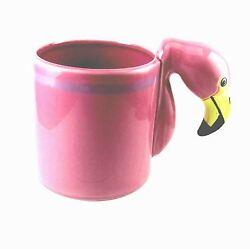 Bergschrund Seattle 1986 Pink Flamingo Figural Hand-painted Coffee Cup/mug 12oz