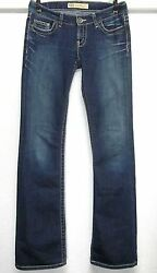 Bke Buckle Madison Stretch Bootcut Flap Pocket Distressed Womanand039s W27 L35.5