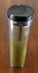 Starbucks Coffee Company 2013 16 Oz Travel Tumbler Clear Gold Frost