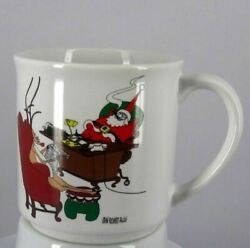 Recycled Paper Products Coffee Cup/mug Allen Rudolph Santa Cigar Newspaper Relax