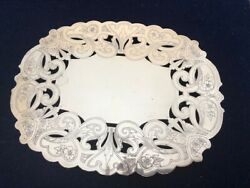 Wallace Silver-plate Double Plate Epc Oval Pierced Trivet 7311 - Old Design