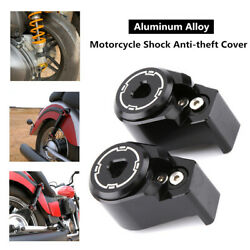 2x Motorcycle Rear Shock Arm Absorber Spools Slider Stand Screws Bolt Cover Part