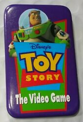 Vintage Buzz Light Year Toy Story 2 The Video Game Advertising Brooch Button Pin