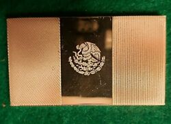 Franklin Mint Flags Of United Nations - Mexico .925 Sterling Silver Ingot 35 Gr.