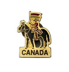Canadian Mountie Pin Lapel Tie Tack Canada Mounted Police Rider Horse Flag
