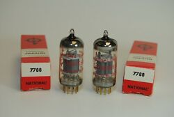 National 7788 E810f Vacuum Tube - Made In W. Germany 2 Tubes