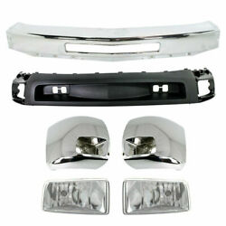New Front Bumper Chrome Ends Valance For Chevy Silverado 2500hd 3500 2007-2010