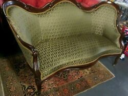 Rare Laminated Rosewood John Henry Belter Rococo Revival Settee Scroll Pattern