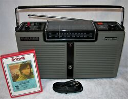 Panasonic Spacer Fm-am Radio Stereo 8 Track Player Rf-7100 Serviced See Video