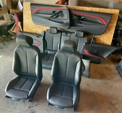 Bmw 2014-2020 F32 Seats Front And Rear Door Panels Red Stitched Line Sport Oem 58k