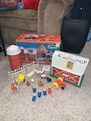 Vintage Fisher Price Play Family Farm 915 Original Box Toys Little People