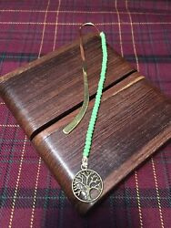 Handmade Beaded Bookmark With Bronze Tree Of Life Charm Wiccan