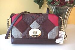 NWT Coach Crosstown Crossbody Exotic Canyon Quilt Leather 38367 Oxblood Multi $179.99