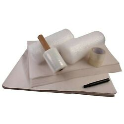 Moving Supplies Kit - Packing Paper, Bubble, Tape And Stretch Wrap