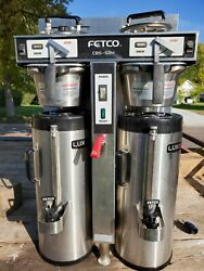 Fetco Twin 1.5 Gal. Commercial Coffee Brewer CBS52H15 with dispensers