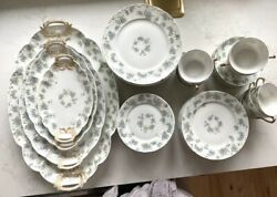 Rare 47 Piece Set Of Haviland China From Limoges, France W Serving Trays