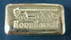Rodebaugh Left Behind Series 1 Byecycle 5 Oz .999 Silver Bar 39 Of 125 Wow