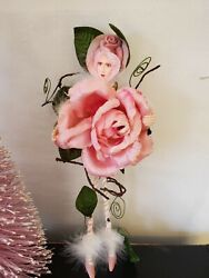 Dept 56 Krinkles By Patience Brewster, 13 1/2 Pink Rose Fairy Valentine Doll