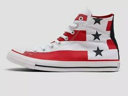 ⭐ Converse Stars Us 6 Stripes Hitop Shoes 167836f Red White Blue 167836f Usa