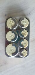 Ussr Coin Holder Collecting Box Storage Capsules Holder Metal Case Vyborg 1970-8