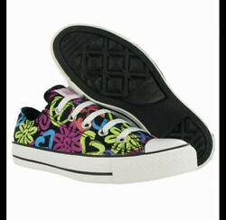 Converse Chuck Taylor All Star Floral Heart Print Low Top Sneakers Canvas Shoes