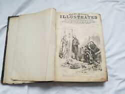Antique 1876 Frank Leslieand039s Usa Illustrated Newspaper Whole Year January-dec
