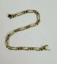 Vintage 14k Yellow Gold Cuban Link Bracelet Hallmarked 14 Grams 8.5 Inches Read