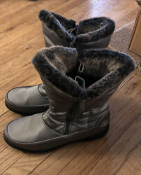 "Totes Winter All Weather Women#x27;s ""Catharine"" Boots Gray size 11 M Faux Fur Lined $24.99"