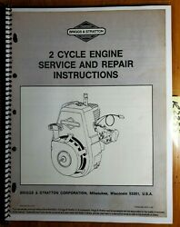 Briggs And Stratton 2 Cycle 62030 62031 62032 62033 Engine Repair Service Manual