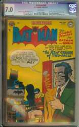 Batman 68 Cgc 7.0 White Pages // Golden Age Two-face Cover + Story