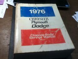 Vintage Auto Shop Service Manual 1976 Chrysler Plymouth Dodge Chassis Body