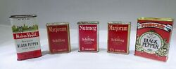 Vintage Spice Tins Schilling Maison Royal And French's Farmhouse Rustic Decor Mm