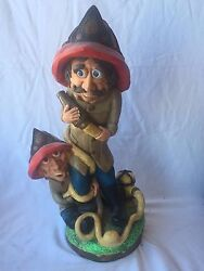 Firefighter Statue By Apsit Bros Of California 1975 Large Tf