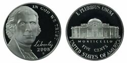 2008 P And D Bu And Proof Jefferson Nickels From Us Mint Sets 3 Coins Cp10499
