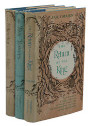 The Lord Of The Rings Trilogy Jrr Tolkien First Us Edition Set 13,13,15 1st