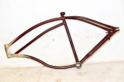 1941 Hawthorne Bicycle Frame And Head Badge Men's 26 Balloon Tire Bike Part