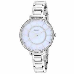 Fossil Women#x27;s ES4451 Jocelyn Silver Tone Stainless Steel Watch $69.50