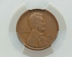 1909-s V.d.b. Lincoln Cent Graded Vg-10 W/cac Label By Pcgs Nice