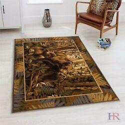 Lodge, Cabin Jungle And Wilderness Accent Area Rug – Modern Design Cabin Are Rug