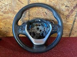 Bmw F30 F32 F22 Steering Wheel Leather Sport Red Stitched W Paddle Shift Oem 58k