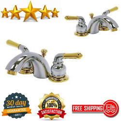 Kingston Brass 4-in. To 8-in. Mini Widespread Lavatory Faucet Metal Lever Handle