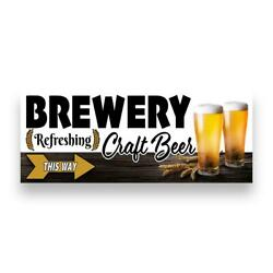 Brewery Craft Beer Right Arrow Vinyl Banner Size Options