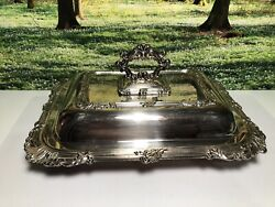 Silver Plated Serving Dish With Lid Ellis Barker Companies Birmingham England