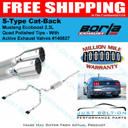 Borla S-type Cat-back Exhaust 2019-2021 Mustang Ecoboost 2.3l Quad Polished Tips