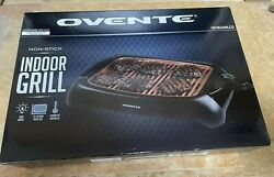 New Ovente Electric Indoor Grill Non Stick Thermostat Control Model Gd1632nlco