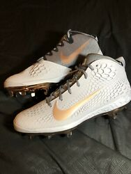 Size 11.5 Nike Trout Metal Baseball Cleats Ah3373-009 New Gold Copper Silver Ca