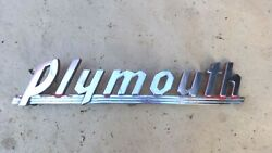 1939 1940 Plymouth Pickup Grille Emblem Original Name Plate