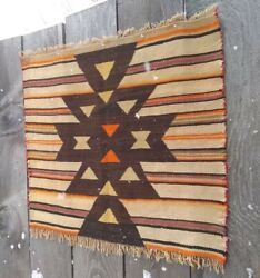 Navajo Rug Transitional Blanket Native American Indian Antique Tapestry Weaving