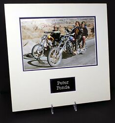 Peter Fonda Easy Rider Captain America Signed And Mounted 12x8 Photo Aftal Rd Coa