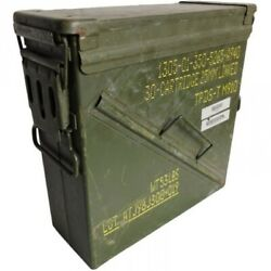 Us Military Army 25mm Ammo Box Metal Storage Container Tool Box Grade 1